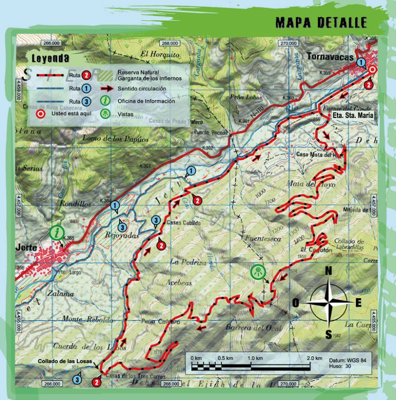 Ruta 2 btt pinos de tornavacas centro btt valle del jerte for Oficina de turismo valle del jerte