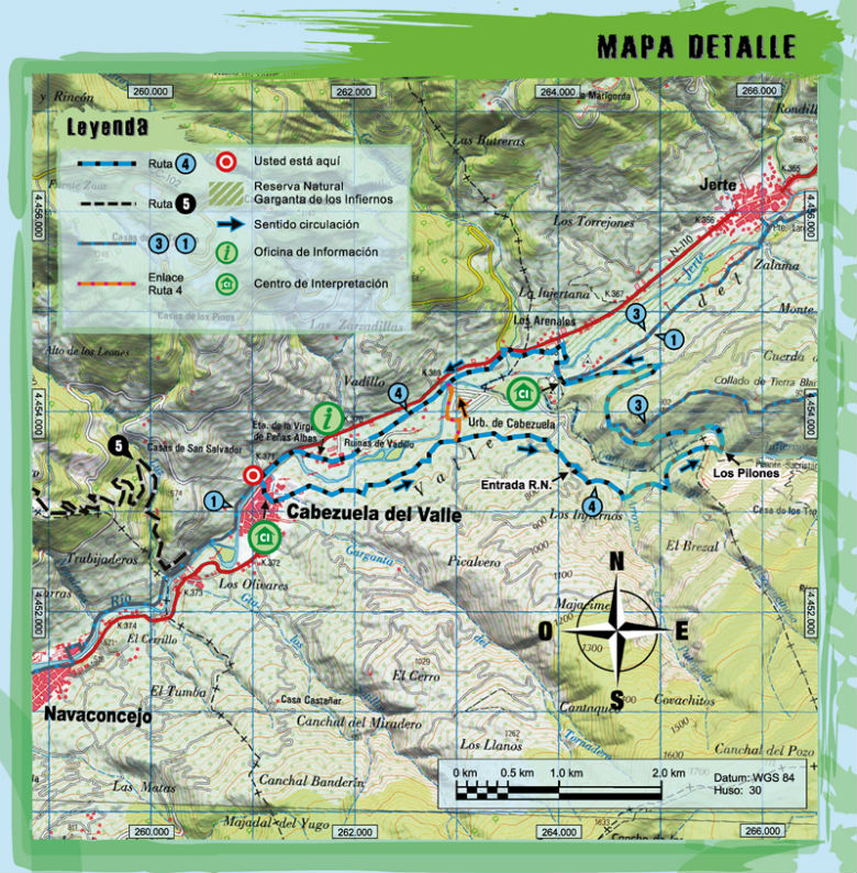Ruta 4 btt umbria de cabezuela centro btt valle del jerte for Oficina de turismo valle del jerte
