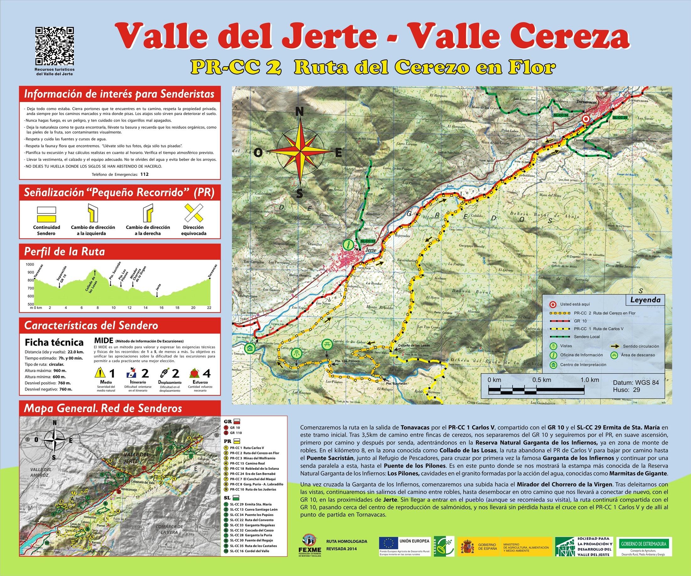 Ruta cerezo en flor senderismo en el valle del jerte for Oficina de turismo valle del jerte