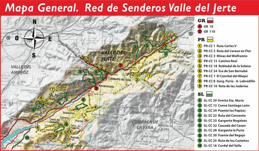 Ruta garganta la puria arroyo labradillo senderismo en for Oficina de turismo valle del jerte