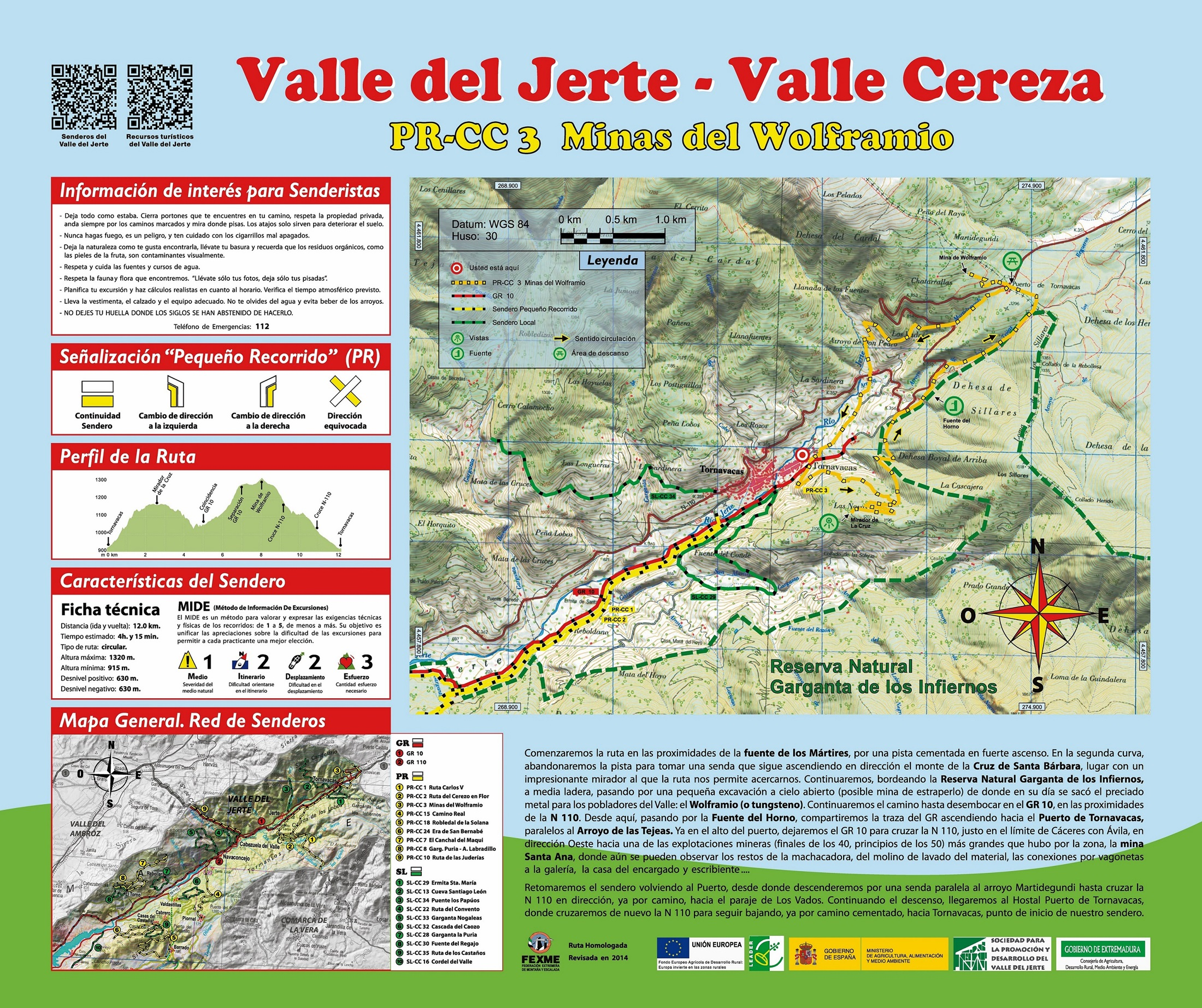 Ruta minas de wolframio senderismo en el valle del jerte for Oficina de turismo valle del jerte