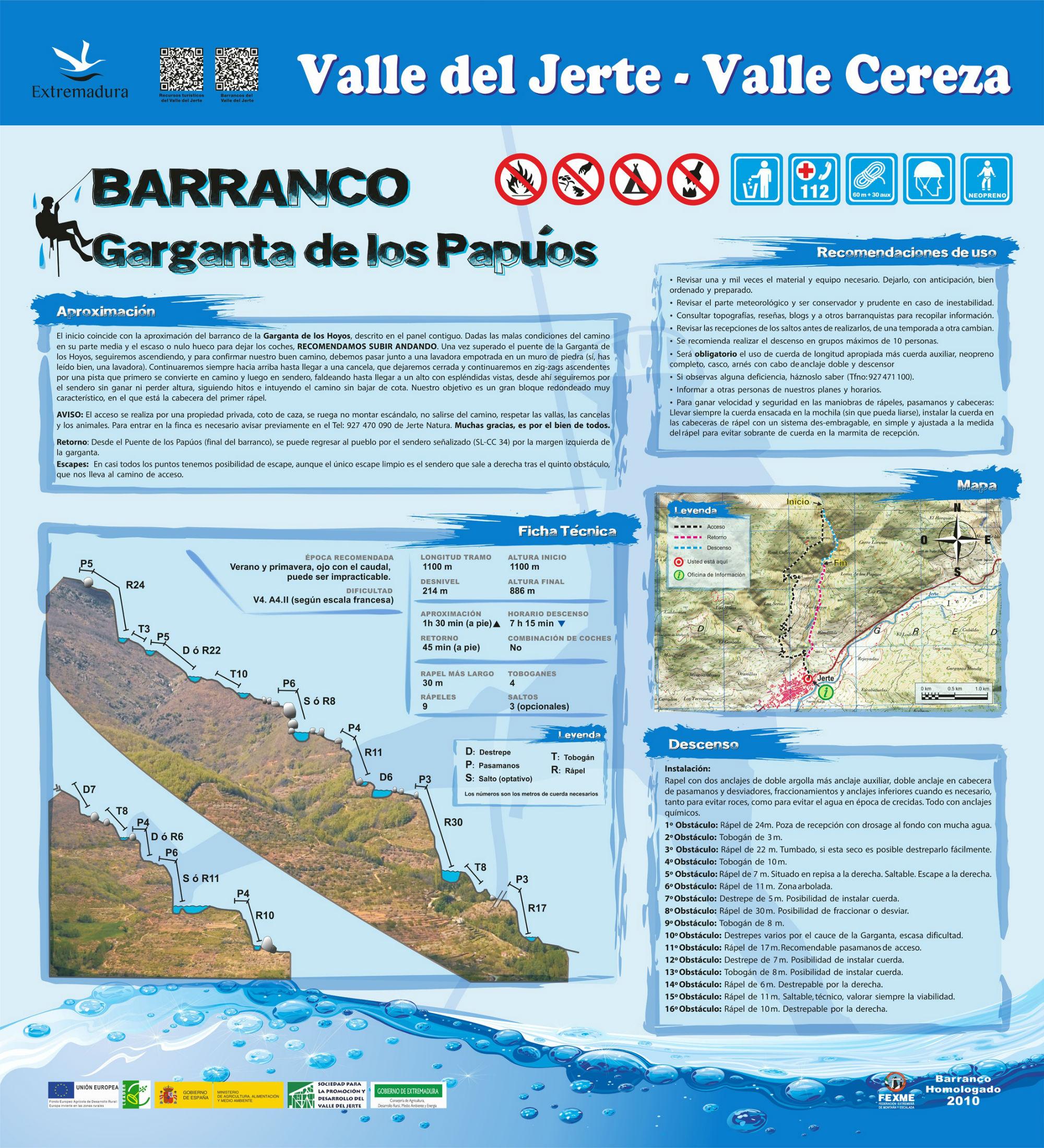 Barranco de los papuos valle del jerte for Oficina de turismo valle del jerte