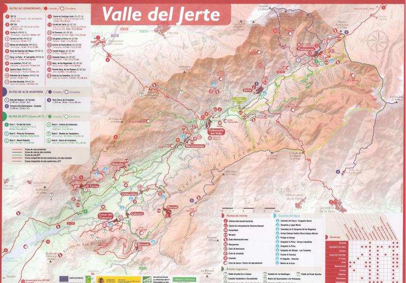 a3b5617ad Mapa del Valle del Jerte