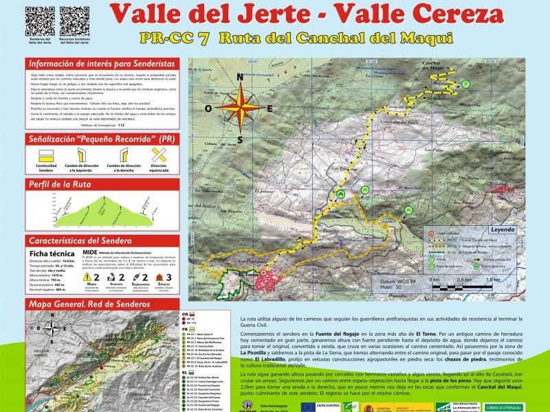 Ruta canchal del maqui senderismo en el valle del jerte for Oficina de turismo valle del jerte